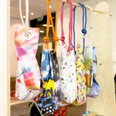 'Happy Moment' bags on display at the Araluen Launch. Photograph: Yi-Hung Huang