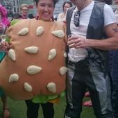 Sahra 'Burger' Stolz and Jamie 'Biker' Robinson