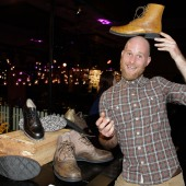 Ben Galloway: 'I love to hand-make shoes..not rubbish' YEP 2015. Photograph: Lucas Dawson