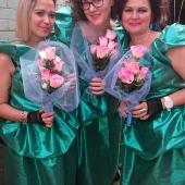 Bridesmaids (from left to right): Rohani Osman, Lucy Adam, Rachel Halton