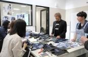 Renzo Rosso visiting the BH103 Bachelor of Fashion (Design) denim studio with Tania Splawa-Neyman. Photo by AnaRaica.
