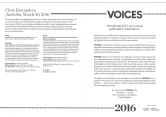 BoF 'Close Encounters' VOICES event program. Sydney, Australia, March 30, 2016.