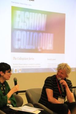 Prof. Robyn Healy and Prof. Ian King (London College of Fashion) introducing the Fashion Colloquia series on the opening panel.