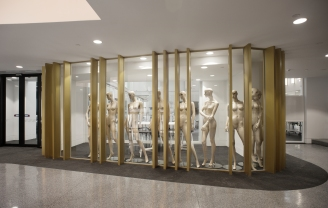 Display cabinets at the foyer of level 12, building 8.