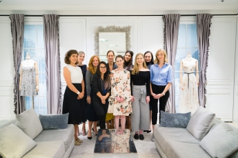 All five students who took part in Women @ Dior with their Dior mentors.