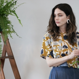 Textile Design alumni Amanda Farncomba's printed collection 'A Gathering', which won the Frankie Good Stuff Award in the category for 'Fashion'.