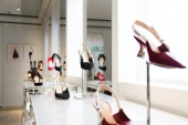 Shoes displayed in the Dior Head Office in Sydney.