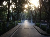 The entrance to Donghua University, photo by Gareth Kershaw.