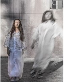 Kumari's project and entry into the student competition, 'Ghost Dress'.
