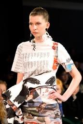 Design by Bachelor of Fashion (Design) (Honours) Alumni Jessica Gregory (Model Helena)