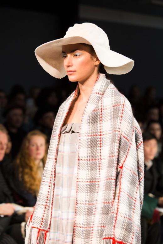 Design by Bachelor of Fashion (Design) (Honours) Alumni Jasper Fearnley (Model Toni)