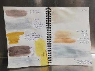 Dye samples.