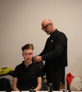 Back stage: 'I allow you to see what I want you to see' by Isabella Markos